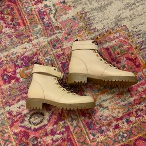 Light brown combat boots